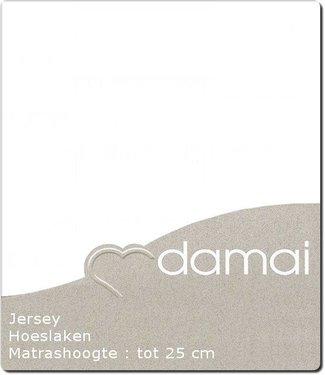 Damai *Hoeslaken Double Jersey White 180 x 200/210