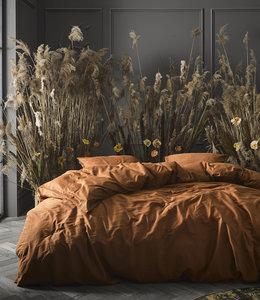Essenza Dekbedovertrek Minte Leather Brown 200 x 200/220