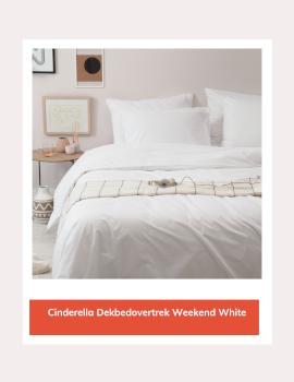 Cinderella dekbedovertrek Weekend White