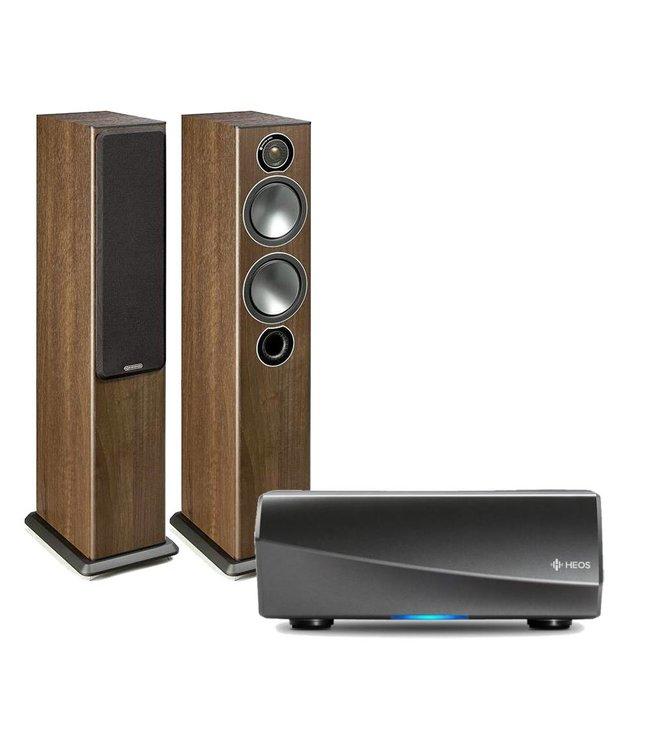 HEOS AMP2 + Monitor Audio Bronze 5 (set)