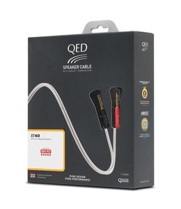 QED XT40 speakerkabelpakket (2x 5.0 meter) Oude Verpakking