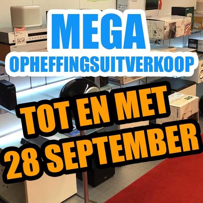 Winkel opheffingsuitverkoop TOT EN MET 28 september