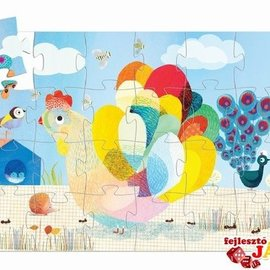 Djeco Djeco 7206 Reuzen puzzel - Raoul de kip (24 stukjes)
