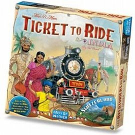 Days of Wonder Ticket to Ride India incl. Zwitserland (uitbreiding)