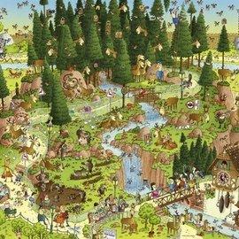 Heye Heye puzzel Black Forest Habitat. Comic (1000 stukjes)