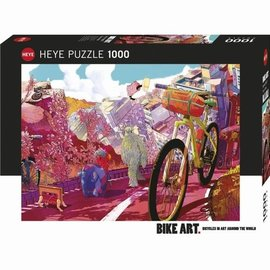 Heye Heye Bike Art - Tour in pink (1000 stukjes)