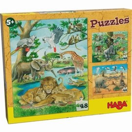 Haba Haba 303348 Puzzels Wilde dieren in Afrika
