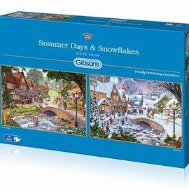 Gibsons Gibsons puzzel Summer Days & Snow Flakes (2x 500 stukjes)