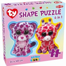 Tactic Selecta Tactic Ty Beanie Boo's 4 in 1 vormen puzzels