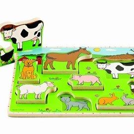 Hape Hape Staande puzzel boerderijdieren