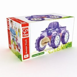 Hape Hape Mini auto Monster Truck bamboe
