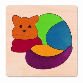 Hape Hape Houten puzzel Regenboog kat