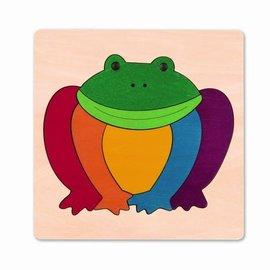Hape Hape Houten puzzel regenboog kikker
