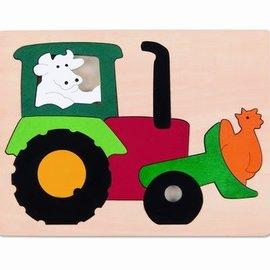 Hape Hape Houten puzzel tractor (6507)