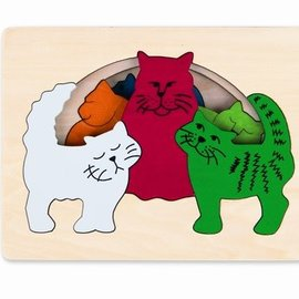 Hape Hape Houten puzzel katten