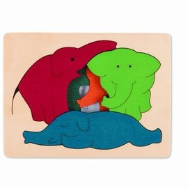 Hape Hape Houten puzzel olifanten