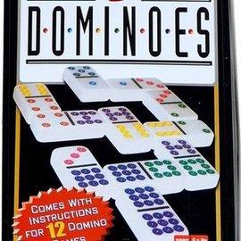 Spellen diverse Domino dubbel 9 in blik