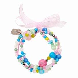 Souza Souza Armband Milou 3 strengen pastel/blauw/roze