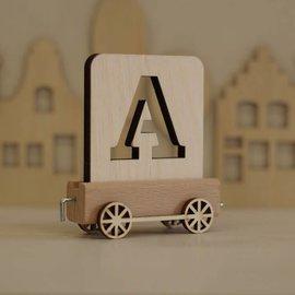 Houtlokaal Houten Lettertrein Letter A