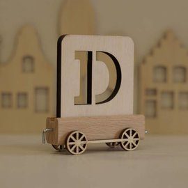 Houtlokaal Houten Lettertrein Letter D