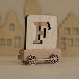 Houtlokaal Houten Lettertrein Letter F