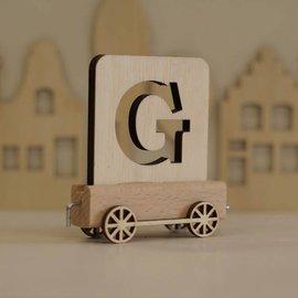 Houtlokaal Houten Lettertrein Letter G