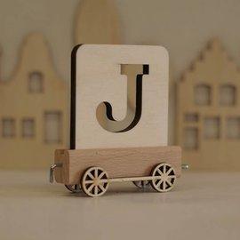 Houtlokaal Houten Lettertrein Letter J