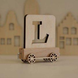 Houtlokaal Houten Lettertrein Letter L