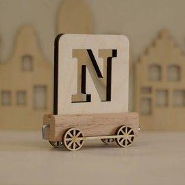 Houtlokaal Houten Lettertrein Letter N