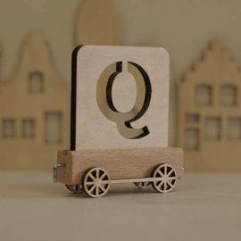 Houten Lettertrein Letter Q