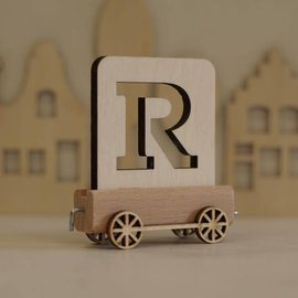 Houtlokaal Houten Lettertrein Letter R