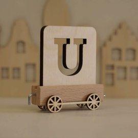 Houtlokaal Houten Lettertrein Letter U