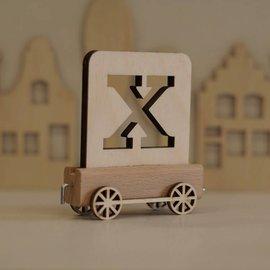 Houten Lettertrein Letter X
