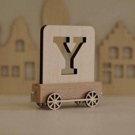 Houten Lettertrein Letter Y
