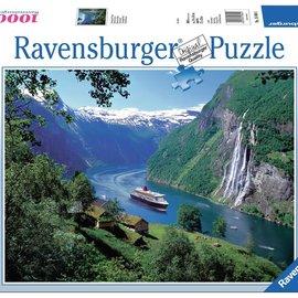 Ravensburger Ravensburger puzzel Noorse fjord (1000 stukjes)