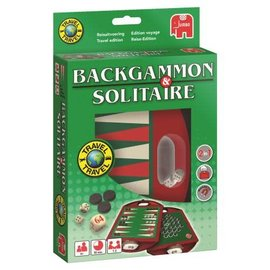 Jumbo Jumbo Backgammon & Solitaire Travel Magnetisch