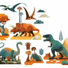 Djeco Djeco 5050 Muurstickers - Dinosaurussen