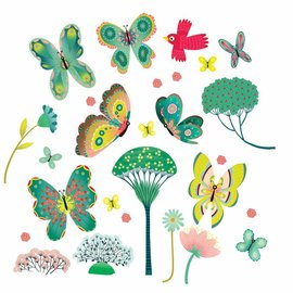 Djeco Djeco 5051 Muurstickers - Vlinders in de tuin