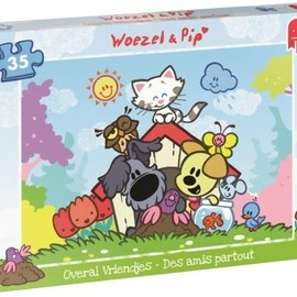 Jumbo Jumbo puzzel Woezel & Pip - Overal vriendjes (35 stukjes)