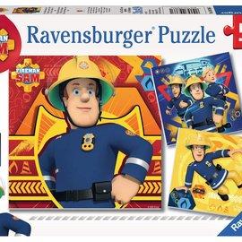 Ravensburger Brandweerman Sam Ravensburger Puzzel:  Bij gevaar Sam roepen (3x 49 stukjes)