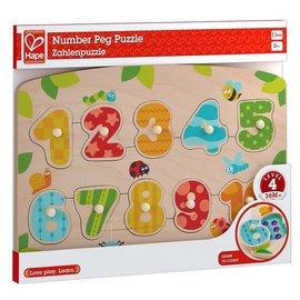 Hape Hape houten noppenpuzzel cijfers