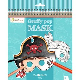 Mandarine Mandarine Graffy Pop Mask Jongens