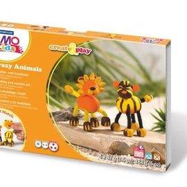 Staedtler Staedtler Fimo kids Klei set Create&Play leeuw en tijger