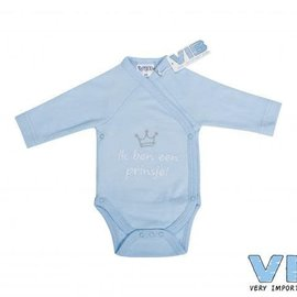 Very Important Baby Very Important Baby - Romper Ik ben een prinsje (blauw)