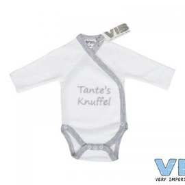 Very Important Baby Very Important Baby - Romper Tante's knuffel (wit/grijs)