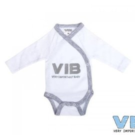 Very Important Baby Very Important Baby - Romper V.I.B. (wit/grijs)