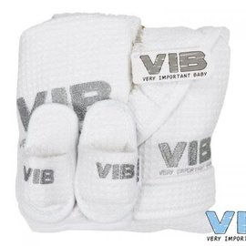 Very Important Baby Very Important Baby - Giftset wit (badjas 62-68, slab en slippers)