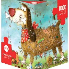 Heye Heye Dog's life (1000 stukjes) 3 hoekig met poster