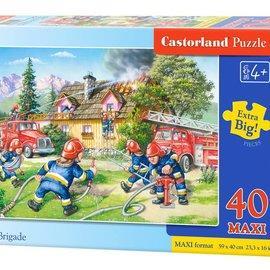 Castorland Castorland puzzel Brandweer (40 maxi stukjes)
