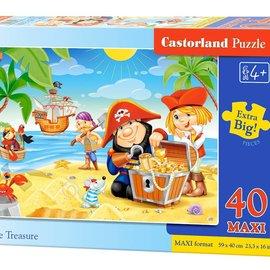 Castorland Castorland puzzel Piratenschat (40 maxi stukjes)